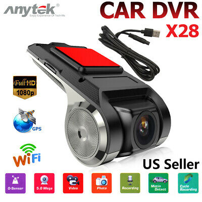 Anytek X28 1080P 150° Dash Cam Car DVR Camera Recorder WiFi ADAS G-sensor New US