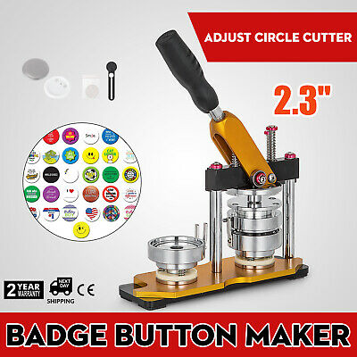 "58mm(2.28"") Button Maker Rotate Machine Pin Buttons Key Chains Punch Press AU"