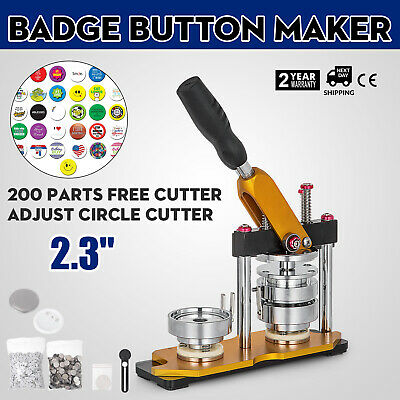 "58mm(2.28"") Button Maker Rotate Machine 200Pcs Handle Badge Bottle Openers"