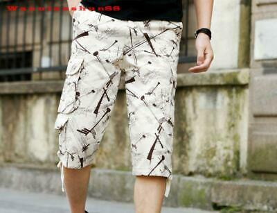 hot sale summer camouflage  loose  Mens pure cotton casual shorts pants