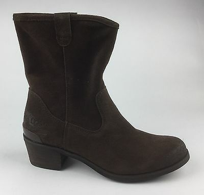 e78583b7f24 NEW UGG AUSTRALIA Briar Womens Distressed Brown Suede Ankle Boots US 6.5 EU  37.5