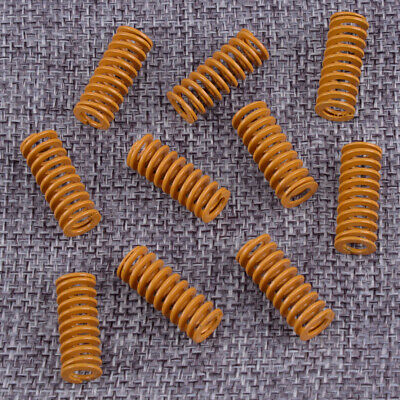 10x Yellow 8mm OD 20mm Length Light Load Stamping Compression Mould Die Spring