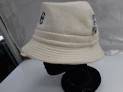 Cappello Hut Vintage 100% Lana, Conte Of Florence Donna Tg.57 Bianco