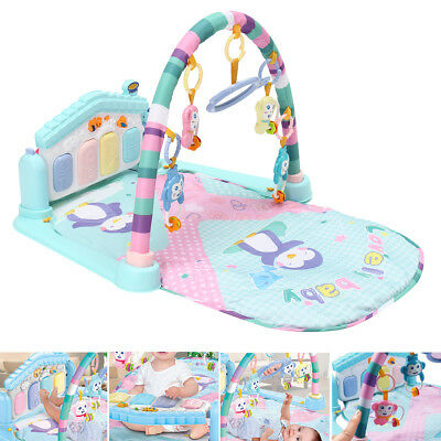 3 in 1 Newborn Infant Baby Musical Piano Play Mat Blanket Kids Activity Carpet
