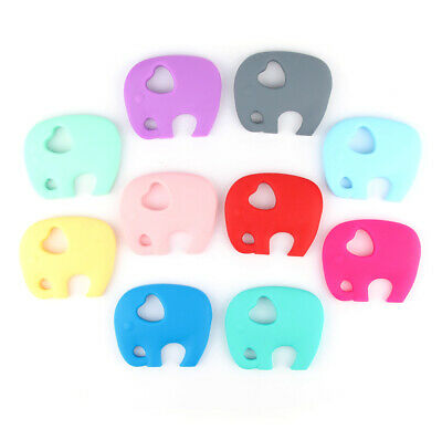 Baby Teether Elephant Food Grade Silicone Soother Teething Chewable Pendant Toy