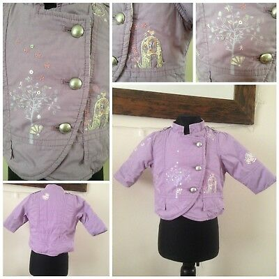 Baby Girls Coat By next 3-6 Months lilac Used