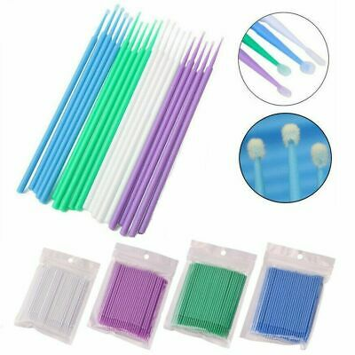 100 Pcs New Disposable Materials Dental Micro Brush Applicator 3 Optional Sizes