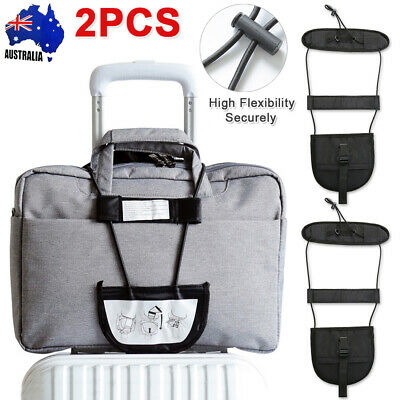 Add A Bag Strap Luggage Adjustable Belt Carry On Bungee for Travel Suitcase AU
