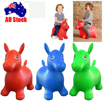 Inflatable Ride On Bouncy Horse Animal Space Hopper Soft Play Toys For Kids Baby