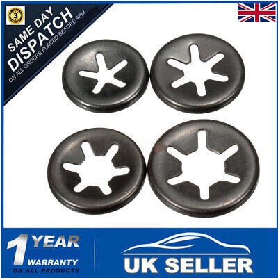 3 - 6mm Starlock Push On Fasteners Locking Washers Speed Locking Round Clips  -