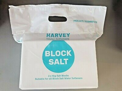 GENUINE Harvey's Salt Blocks Water Softener 8kg  2 X 4KG BLOCKS  1,2 or 3 packs