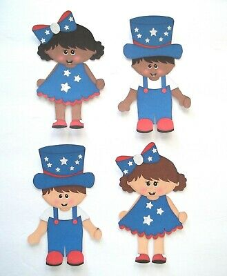 3D U Pick July 4th Memorial Day Patriotic  Scrapbook Card Embellishment