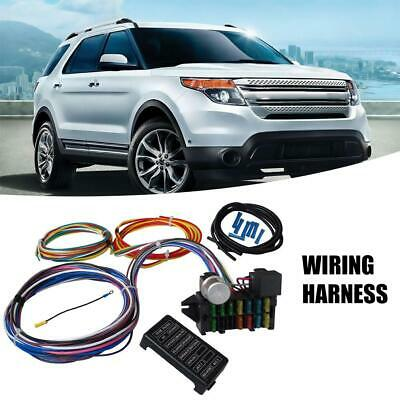 Fine 12 Circuit Basic Wire Harness Fuse Box Street Hot Rat Rod Wiring Car Wiring Digital Resources Sapredefiancerspsorg