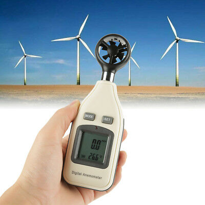 GM816A Digital LCD Air Wind Speed Meter Anemometer Thermometer Tester IDM