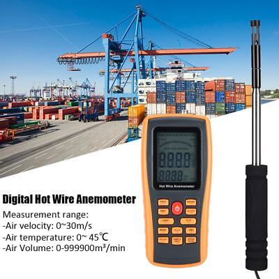 GM8903 Portable Digital Hot Wire Wind Speed Meter Temperature Gauge Anemometer D