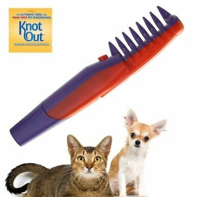 Knot Out Electric Pet Grooming Flea Comb Dog Pet Hair Trimmer Tangle