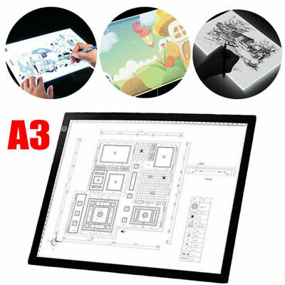A3 Drawing Tracing Copy Board Tracer LED Thin Light Pad Box Art Tattoo Sketch UK