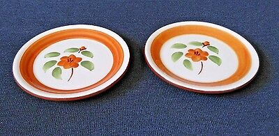 Vintage STANGL POTTERY  Mid Century Side Plates BITTERSWEET Set of 2