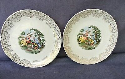 "Iva Lure by Crooksville 8"" Plates China Colonial Victorian USA LP & B-T Vintage"