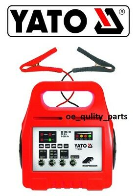 YATO Battery Charger Motorcycle Car Van Bike 6 12 8A Volt AGM Gel Lead Acid Wet