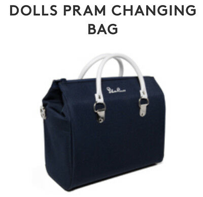 Silver Cross Dolls Pram Changing Bag - Navy Blue Brand new with fixing straps