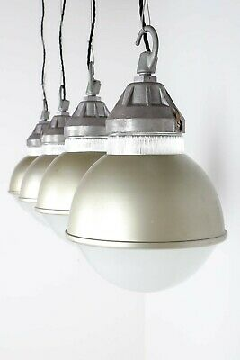Rare Vintage Industrial Globe Holophane Dome Pendant Ceiling Lights