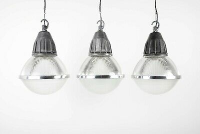 Large Industrial Holophane Pendant Lights