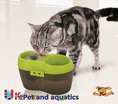 Cat Drinking Fountain, Fresh Water Drinking Fountain With Dental Care 2L