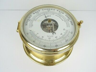 Vintage Schatz German Mariner Ships Clock Barometer Thermometer Working