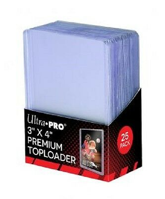 100 Ultra Pro Premium 3x4 Toploaders Brand New top loaders + 100 sleeves