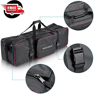 Photography Photo Bag Equipment Studio Padded Wheels Camera Lighting Carry Case
