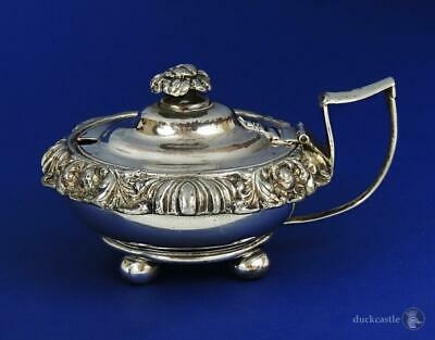 George IV OLD SHEFFIELD PLATE Large MUSTARD POT Gilt Interior c1820