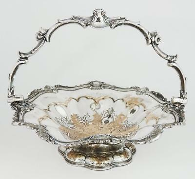 Heavy Quality VICTORIAN OLD SHEFFIELD PLATE FRUIT BASKET ​c1850 Foliate Design
