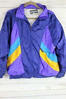 Vintage 80s MEMBERS ONLY Nylon WINDBREAKER hip hop Track Suit Jacket Size XL
