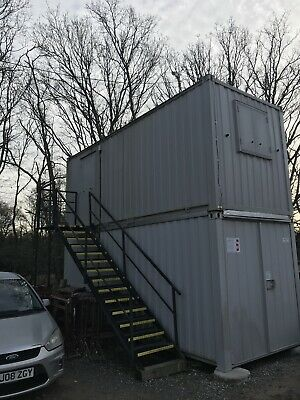 Site Office Cabin Container 20ft x 8ft Portable Steel Building Anti Vandal