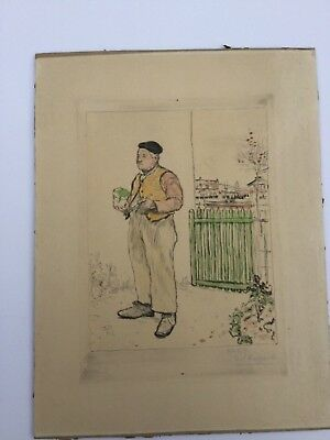 Jean-Francois Raffaelli Signed Colored Etching No.27 1904