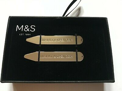 Mens Marks & Spencer Silver Collar Stiffeners