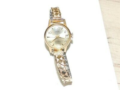 Vintage Smiths - Gold Tone Jewelled Watch - Expander Bracelet