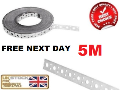 FIXING BAND STEEL METAL PUNCHED PERFORATED STRIP STRAP 5m x 25 x 1mm