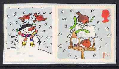 GB 2003 sg LS14 Christmas Robin Smiler Sheet Single Stamp With Label Litho MNH