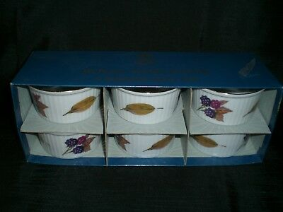 "Royal Worcester Evesham Gold Ramekins 3 1/4"" Oven to Table Ware; 6 In Box"