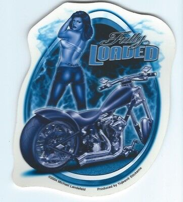 Autocollant Hot & Sexy Pin Up - Fully Loaded -Sticker Deco Usa / Biker / Harley