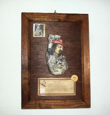 Buffalo Bill Cody - Collectors Edition - Wooden Wall Plaque - Antiqued Finish