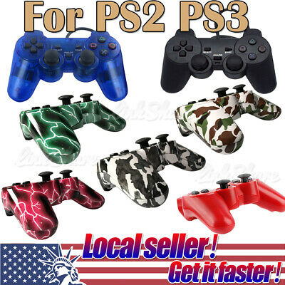 US SHIP Game Controller Joypad Pad For Sony PS2 Playstation 2 PS3 Playstation 3