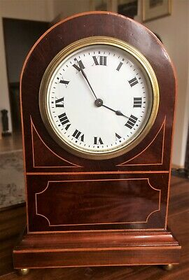 Edwardian Buren Swiss made 8 day mantel Clock - professionally cleaned