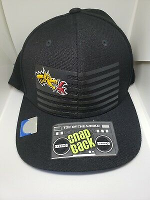 reputable site 67a65 a7528 Drexel Dragons Top of the World NCAA Saluter Snapback Hat Cap -- black