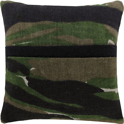 Tooth Fairy Pillow, camouflage print fabric, black bias tape trim for kids
