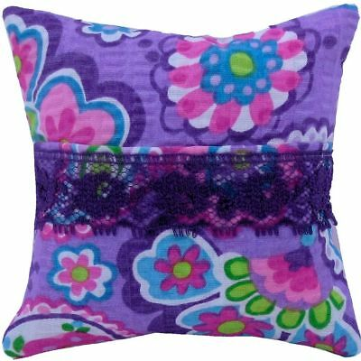 Tooth Fairy Pillow, purple, paisley print fabric, purple lace trim for girls
