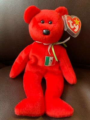 d84822686d8 TY BEANIE BABY Red Bear RARE Osito 1999 retired -  125.00