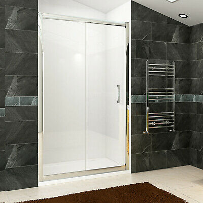 Sliding Shower Enclosure and Stone Tray&Waste 8mm NANO Glass Side Panel Cubicle